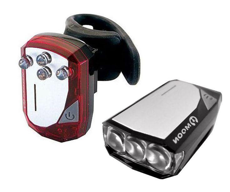 Zestaw lamp rowerowych przód GEM 2.0 3-Led + tył GEM-3.0 4-Led | Internetowy sklep rowerowy Sporti