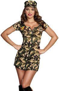 Women's Sexy Army Costume