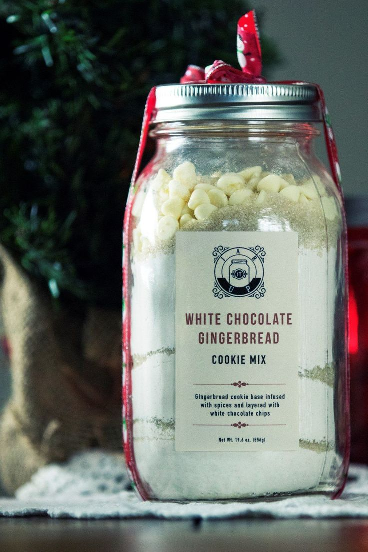 White Chocolate Gingerbread Cookie Mix | Gingerbread cookie based infused with spices and layered with delicious white chocolate chips.