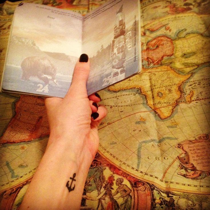 51 отметок «Нравится», 3 комментариев — Chandra Brynn (@ccstuffington) в Instagram: «Where to next?  #passport #blankspace #anchor #anchortattoo #write #create #wander #travel…»