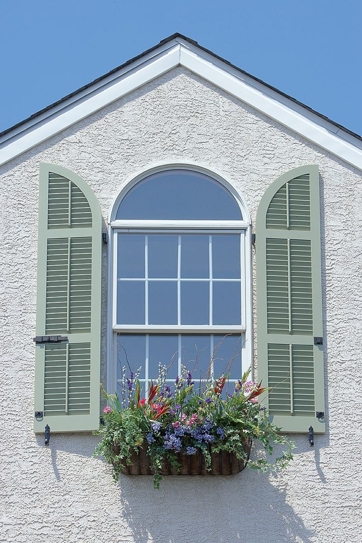 17 best images about splash of color on shutters on pinterest window green shutters and the for Exterior louvered window shutters