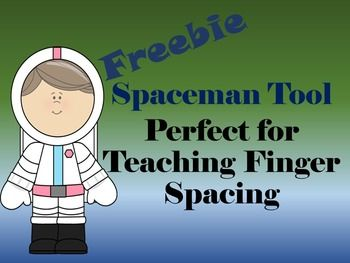 Need+something+to+help+you+little+ones+remember+to+leave+a+finger+space+when+learning+to+write?+Here+is+your....Spaceman!+I+even+made+a+girl+as+well.+Print+and+have+your+kiddos+glue+them+to+a+Popsicle+stick.+It+works+as+a+way+for+students+to+practice+not+only+their+finger+spacing+but+when+gluing+they+are+brushing+up+on+those+much+needed+fine+motor+skills.