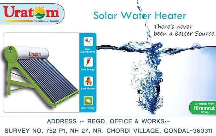 Solar Water Heater is a device which provides hot water for bathing washing cleaning etc. using solar energy.  #Uratom #Energy #solarpower #solarpump #solarenergy #solarpanels #solar