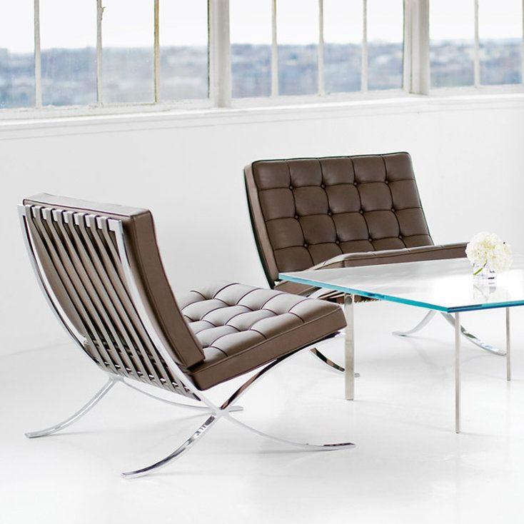 barcelona chair chrome plated - b-object