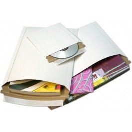 Rigid Paperboard Mailers for mailing items you do not want to bend or break- CD's and DVD's without a case, documents, photos, scrapbooking paper, etc.