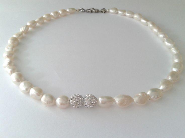 collana perle barocche con chiusura vintage di tizianat su DaWanda.com