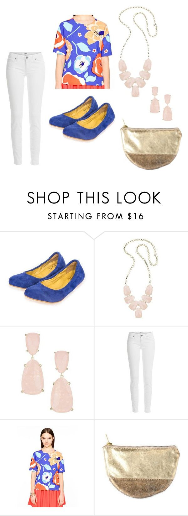 """Dazzling Blue - Dallas"" by ssekodesigns ❤ liked on Polyvore featuring Kendra Scott, Paige Denim and Kate Spade"