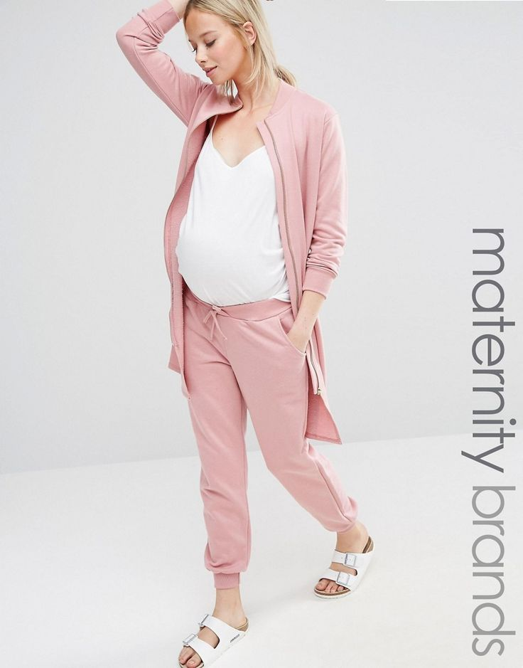 Buy it now. Bluebelle Maternity Lounge Jogger - Blush. Maternity joggers by Bluebelle Maternity Soft-touch knitted fabric Drawstring waist Side pockets Fitted cuffs Relaxed fit Designed to fit through all stages of pregnancy Machine wash 50% Cotton, 50% Polyester Our model wears a UK 8/EU 36/US 4 and is 178cm/5'10 tall , pantalónjogger, joggers, jogging, joggingbásico, joggingculotte, joggings, jog, jogger. Hot pink Bluebelle Maternity joggers for woman.