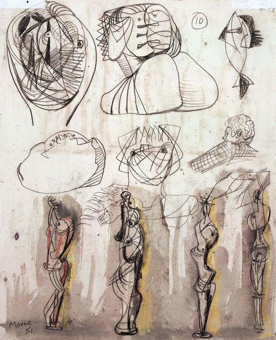 henry moore - studies for figures.