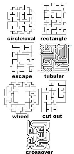 mazes to print. Tape Maze on floor of gym...have some kind of stations survivor style.