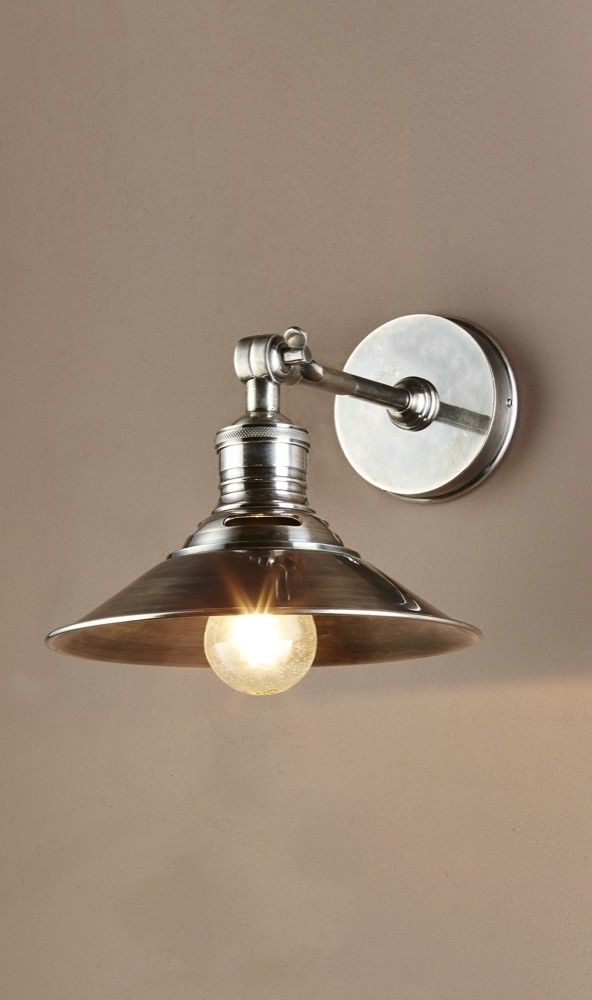 Bristol Wall Sconce in Antique Silver $250
