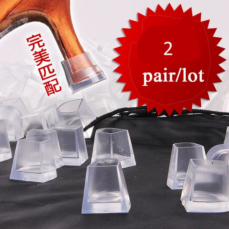 2 pairs/lot High Heel Protectors Latin Stiletto Dancing Covers Heel Stoppers Antislip Silicone High Heeler for Wedding Outdoors