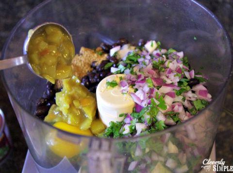 using food processor to make black bean burger recipe