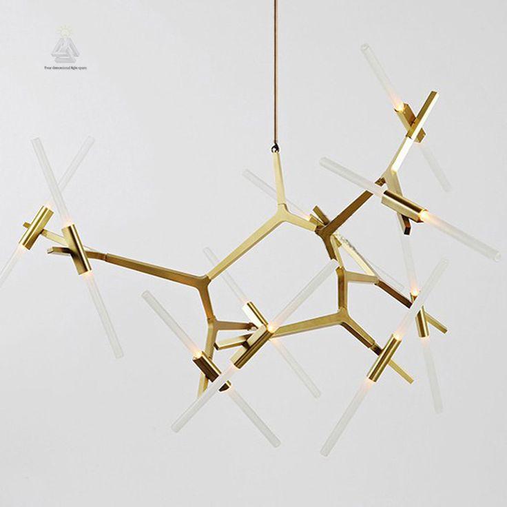 Epic Schicken Mehr Pendelleuchten Information ber Kreative Zweig Kunst glas aluminium gold Pendelleuchte Moderne Italienische Design Pers nlichkeit
