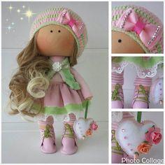Немного деталей куколки Леси. Рост 26 см. #likadolls #текстильная_кукла…