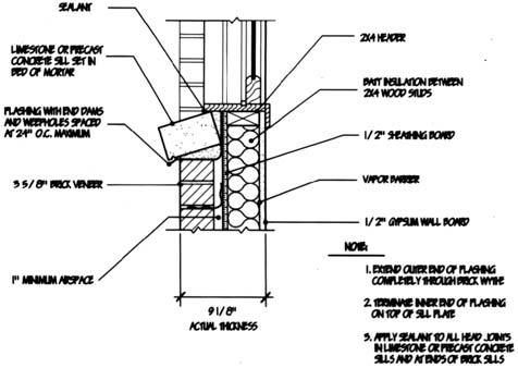 Brick Window Sill Detail Building Diagrams Pinterest