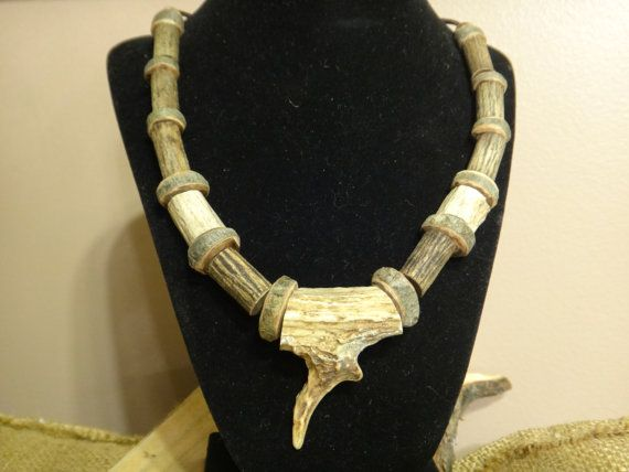 Tribal Deer antler Necklace . First by CreationSecondeNatur