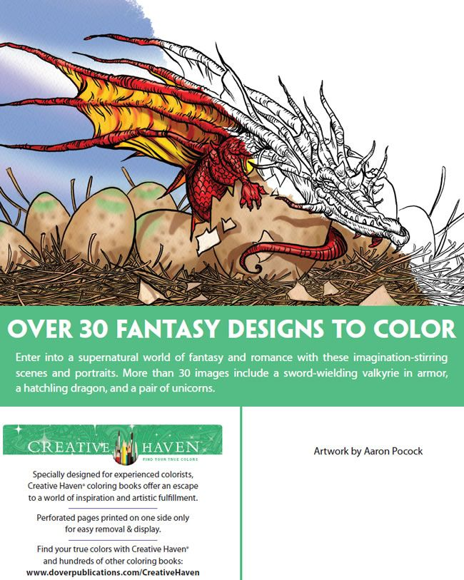 Creative Haven Fantasy Designs Coloring Book Adult