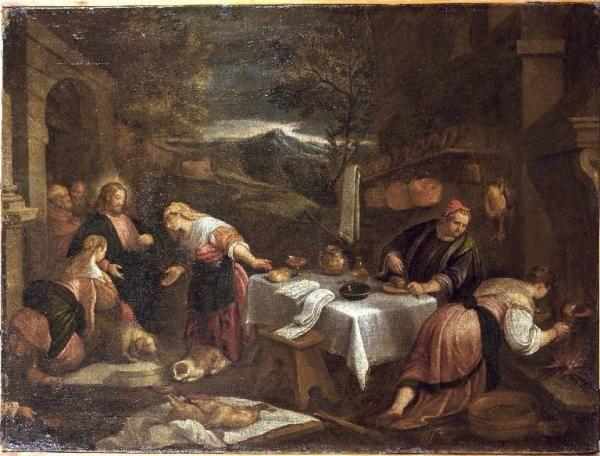 Da ponte:Leandro detto Bassano:-Cristo in casa di Santa Marta e Santa Maria Maddalena