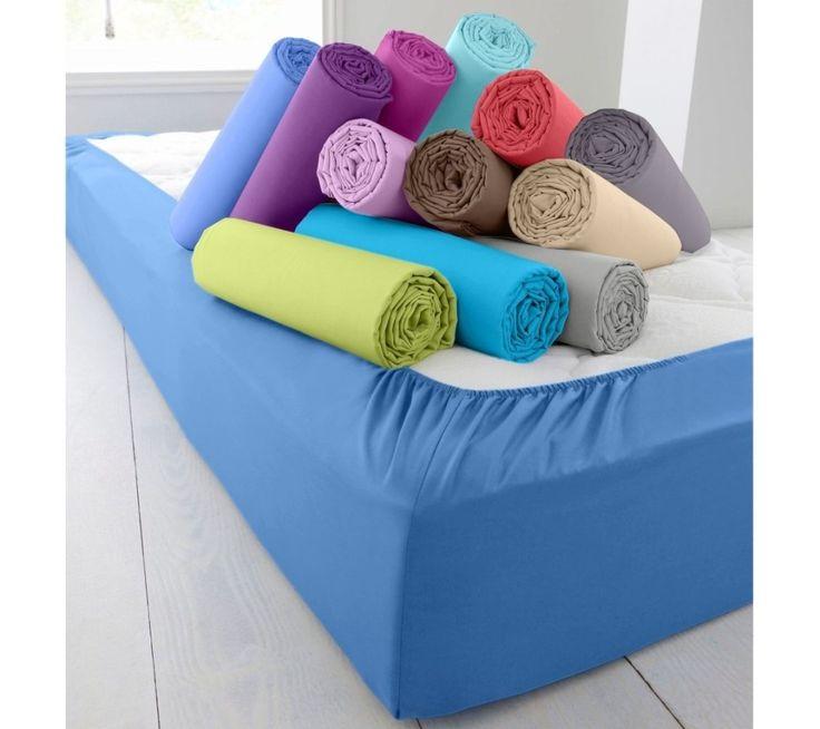 Jednofarebná napínacia posteľná plachta, bavlna   blancheporte.sk #blancheporte #blancheporteSK #blancheporte_sk #zimnákolekcia #zima #domov #bytovytextil