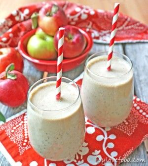 Apple Banana Chia Seed Smoothies // Card Made