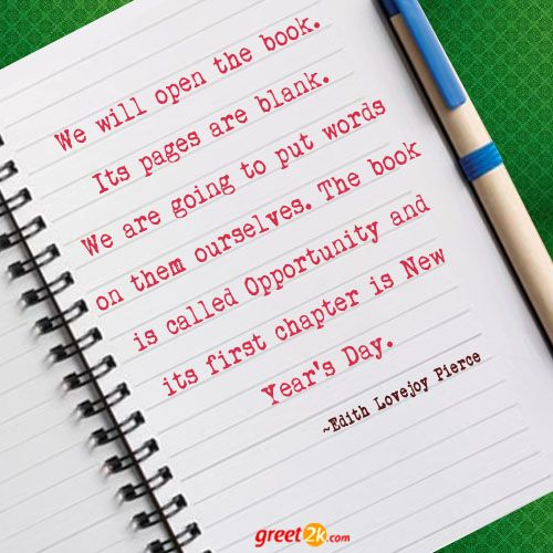 Open Book Pages With Words 38 best New Year Quote...