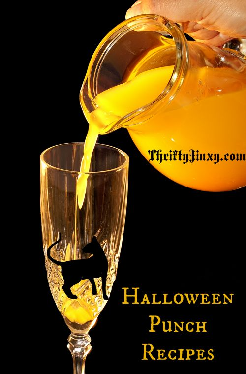 You can make any Halloween party complete with these non-alcoholic Halloween Punch Recipes. To make them extra special, serve them in a pumpkin punch bowl with super-cool glow stick effects! Keep reading to find out how to make one! Thanks to Family Frugal Fun for sharing with us! Witch's Brew: 1 Gallon 100% grape juice …