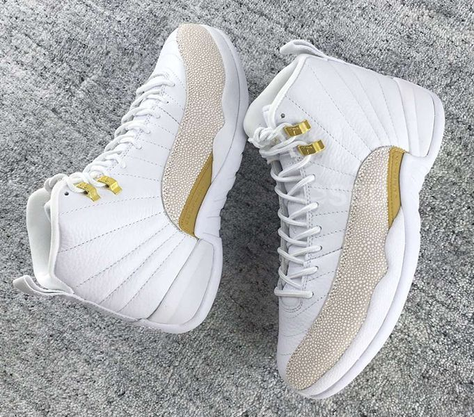 sneakers for cheap 590d2 5c8eb OVO Air Jordan 12 White Gold Release Date | Basketball shoes ...