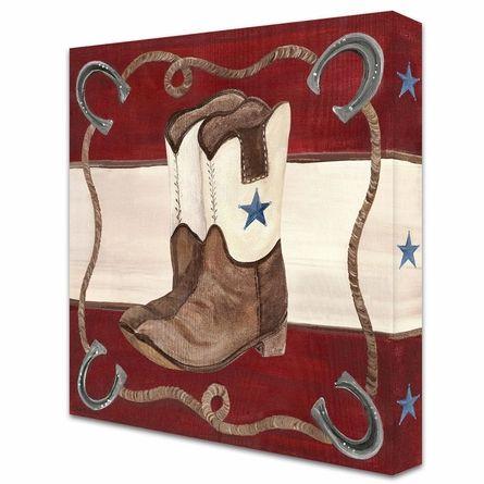 Lil' Buckaroo Boots Canvas Reproduction