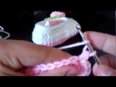 Tutorial-Crochet baby ballet booties (Part 1)