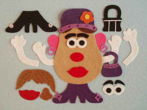Mrs. Tater Felt Toy Basic Set/Felt Board by JillyPooCreations