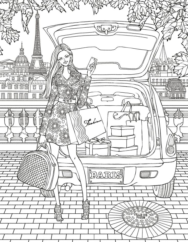 Paris colouring page Coloring books, Coloring pages