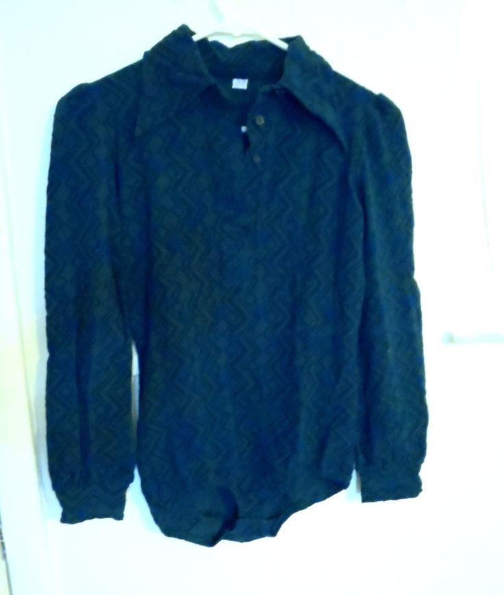 Vintage Danskin 1960- 70's Green Leotard / Sport Wear Athletic / Workout Shirt Activewear Clothe by Happybeginning on Etsy