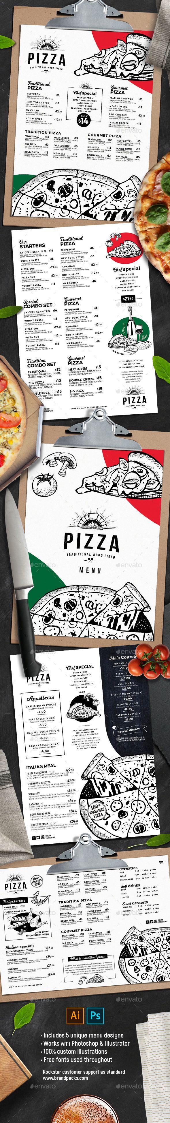 #Pizza #Menu Templates - #Food Menus Print Templates