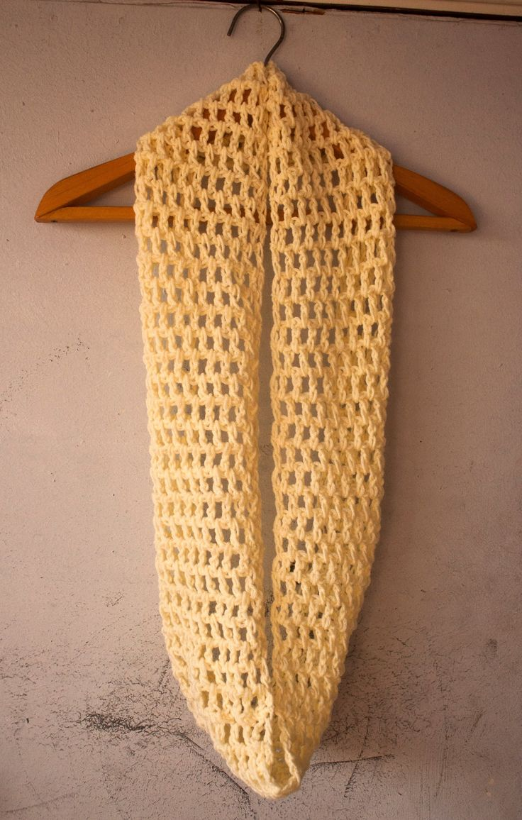 Free Pattern For Double Crochet Scarf : How to crochet easy double crochet infinity scarf ...