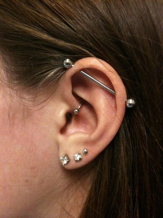 Minimalist Industrial Barbell Piercing Jewelry Simple at MyBodiArt 14G