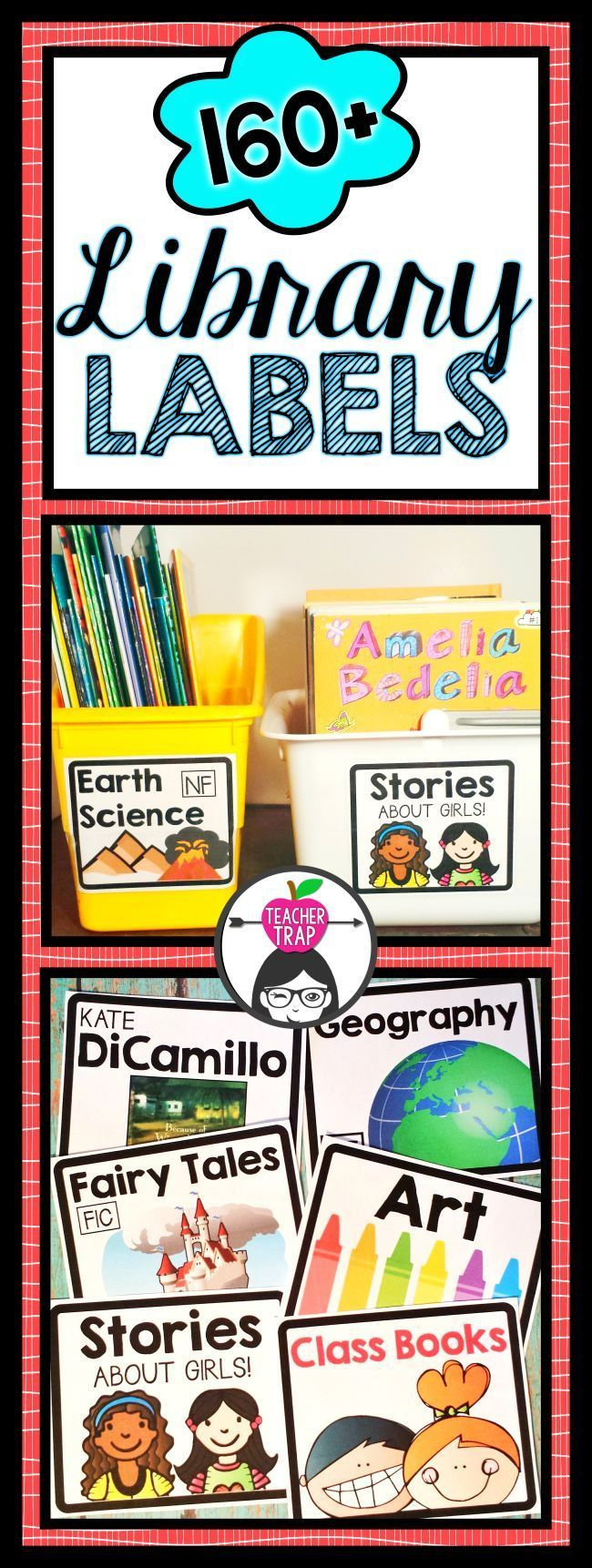 Massive set of classroom library labels!! Covers genres, favorite authors, popular series and common topics!