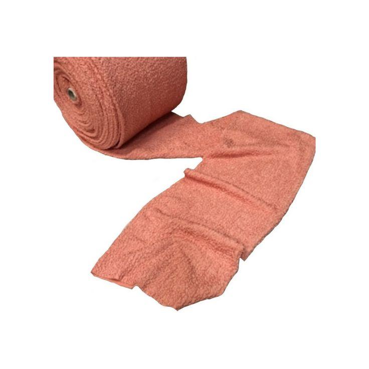 Tissu maille bouillonnée stretch est tricoté en tubulaire en 25 centimètres de largeur. Il sera très facile de réaliser une robe bustier puisqu'il n'y aura pas de couture à faire sur les cotés et s'ajustera directement à votre corps compte tenu de son extensibilité.  Coloris : Abricot
