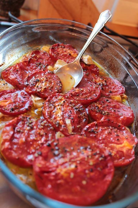 Granny's tomatoes grilled with Amasi Crete olive oil by Verona