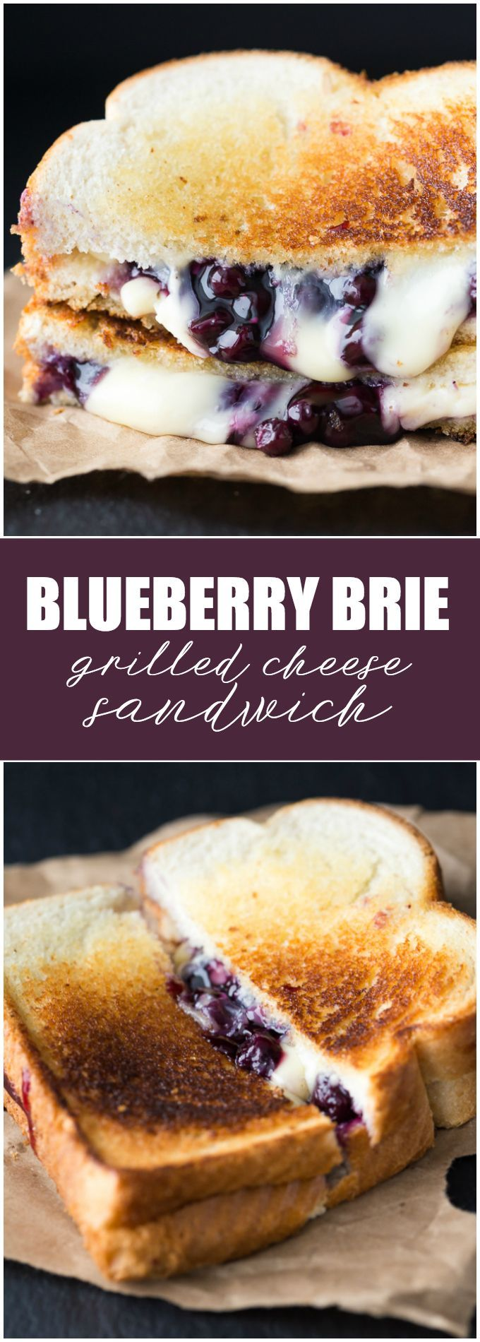 Blueberry Brie Grilled Cheese Sandwich - Yes, lunch can actually be a dessert! Enjoy the decadence. #DempstersHoneyWheat #ad