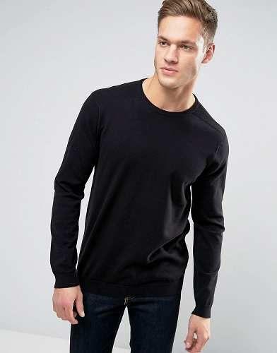 Prezzi e Sconti: #Burton menswear maglione girocollo nero taglia Xs  ad Euro 26.99 in #Burton menswear #Male per prodotto maglioni