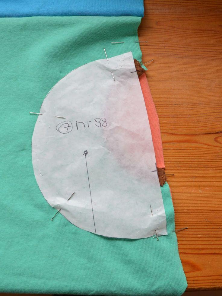 zakken aannaaien Mie Katoentje: Rood met blauwe stippen - tutorial Princess Castle en tricottips