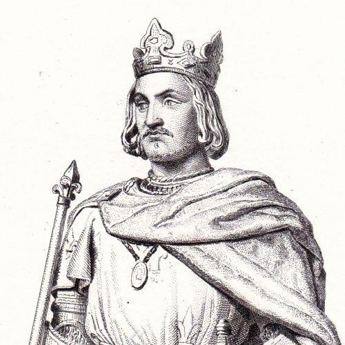 Portrait-XIXe-Charles-VII-Roi-de-France-Valois-Jeanne-d-039-Arc-1839