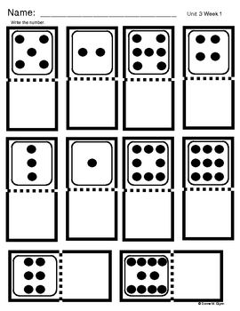 FREEBIE - Domino Number: use magnetic letters on a sheetpan or stamps for pre-k's. You could also use number stickers and get some fine motor in there.