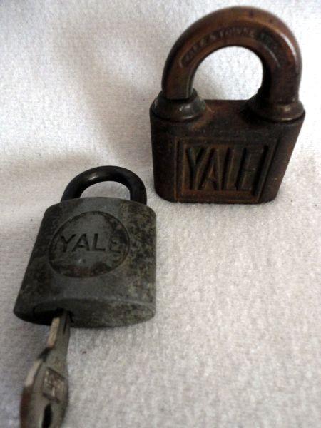 Vintage Yale locks.