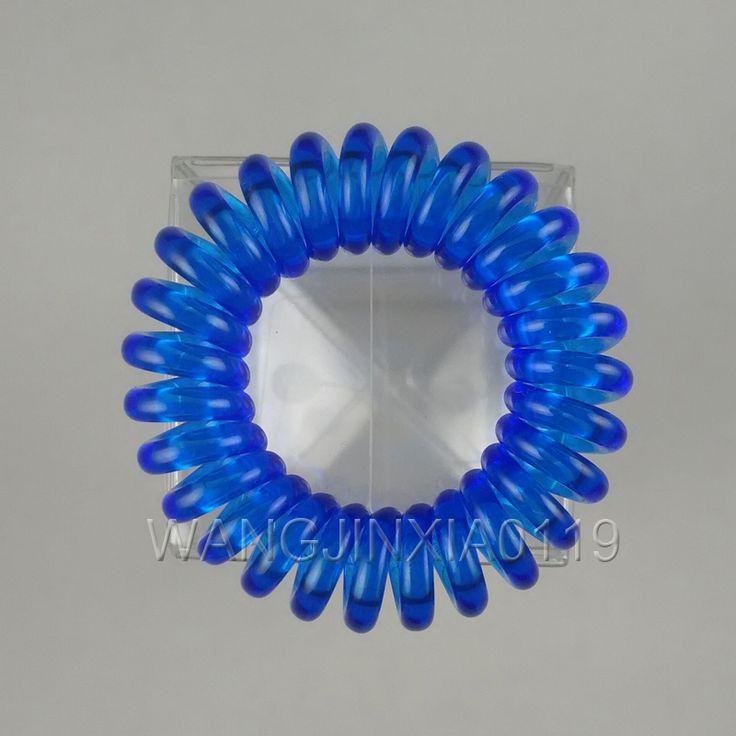 Elastic hair bands for gilr 4CM original Telephone Wire Line Cord Traceless Hair Ring Gum Elastic Hair Band good for long hair