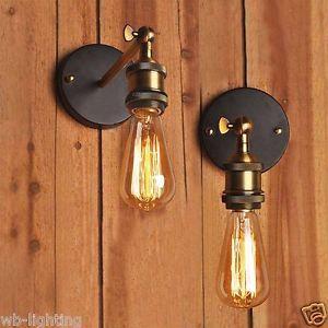 Loft Copper Vintage Industrial Rustic Sconce Wall Light Lamp Fitting LED Bulb   eBay