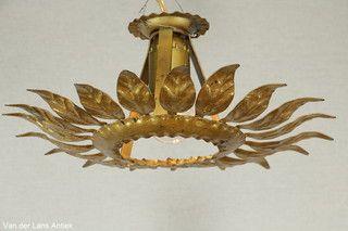 Italiaanse plafonniere 26127 bij Van der Lans Antiek. Meer antieke lampen op www.lansantiek.com
