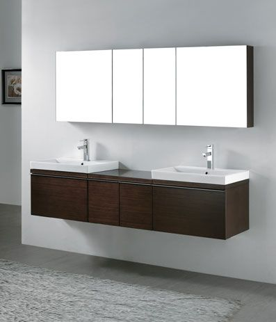 19 best wall mounted vanities images on pinterest bath for Floating bathroom cupboards