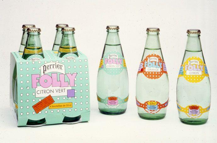 グラフィックデザイナー、シーモア・クワストのペリエのパッケージ。かわいい。(via Seymour Chwast for Perrier)